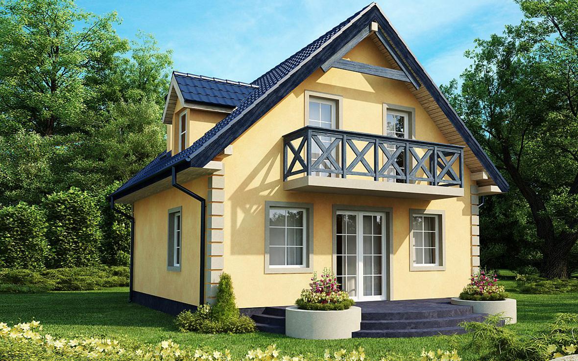 Проект дома из газобетона G2-2